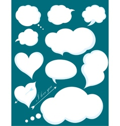 Set of romantic love or cloud communications vector
