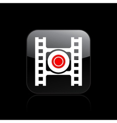Video recording icon vector