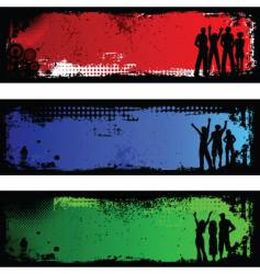 Grunge people backgrounds vector