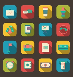 Flat icons of financial service items vector