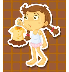Girl and dress vector