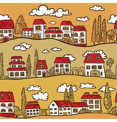 Houses on street vector