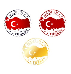 Made in turkey stamp vector