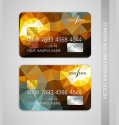 Templates credit card vector