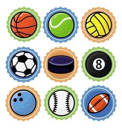 Set with sport balls - cartoon vector