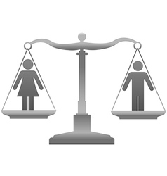 Gender equality sex justice scales vector