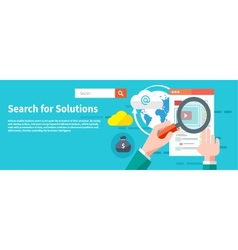 Search for solutions infographics vector