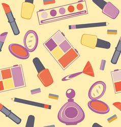 Cosmetics seamless pattern vector