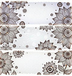 Sunflower bookmarks vector