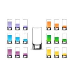 Various drinks vector