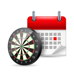 Darts and calendar vector