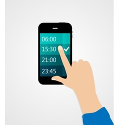 Alarm for different electronic devices concept vector