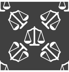 Scales balance web icon flat design seamless gray vector