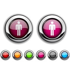 Male button vector