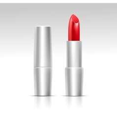 Isolated red lipstick on white background vector