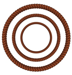 Brown rope in three sizes vector