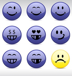 Smiley icons vector