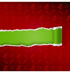 Ragged paper with christmas pattern vector