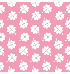 Abstract natural clover seamless pattern vector
