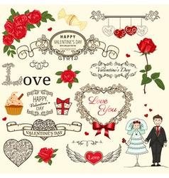 Valentine background vector