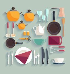 Kitchen workplace vector