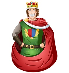 Young king with crown vector