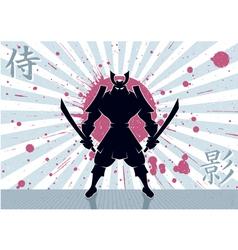 Samurai background vector