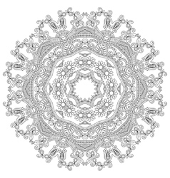 Circle lace ornament round ornamental geometric vector