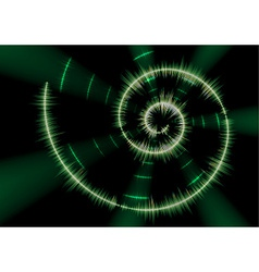 Spiral music waveform vector