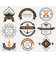 Logotypes set and vintage insignias design vector
