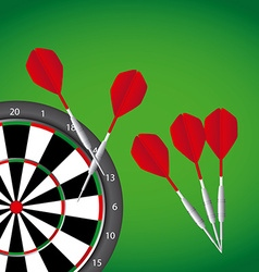 Darts game vector