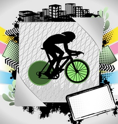Cyclist summer frame vector