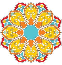 Oriental flower pattern vector