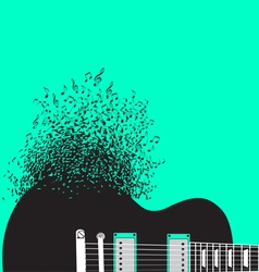 Abstract guitar music background vector