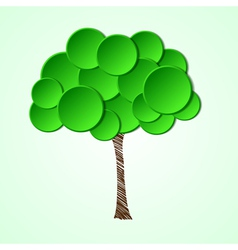 Tree with a paper crown and a painted stem vector