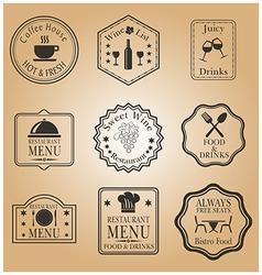 Restaurant menu labels vector