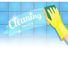 Cleaning background headline vector