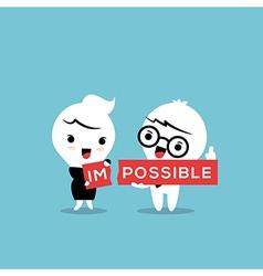 Impossible cartoon vector