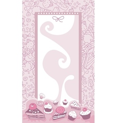 Cakes background vector