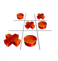 Tic-tac-toe 3d illustration vector