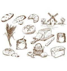 Bread set vector