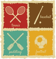Set of vintage sport labels vector