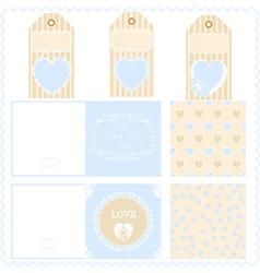 Scrapbook design elements valentines for design vector