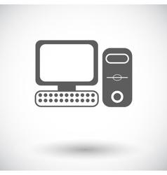 Computer flat icon 2 vector