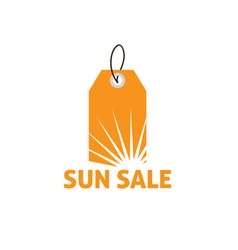 Sun sale savings label vector