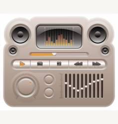 Digital audio mp3 player vector