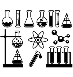 Chemical laboratory equipment vector