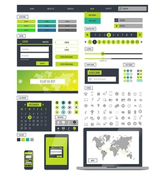 Ui kit responsive web design icons template mockup vector