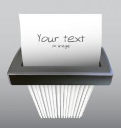 Paper shredder illustration vector