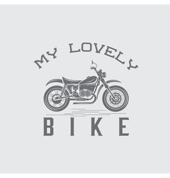 Vintage motorcycle graphic design template vector